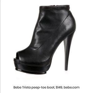Brand new Bebe Trista peep toe boot
